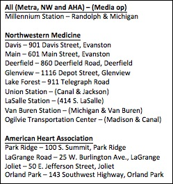 Northwestern Medicine and American Heart Association representatives guide