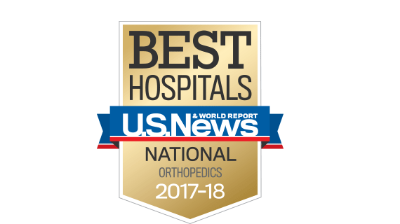 Central DuPage and Northwestern Memorial Hospital U.S. News & World Report Best Hospitals Orhopaedics 2017-2018 graphic.