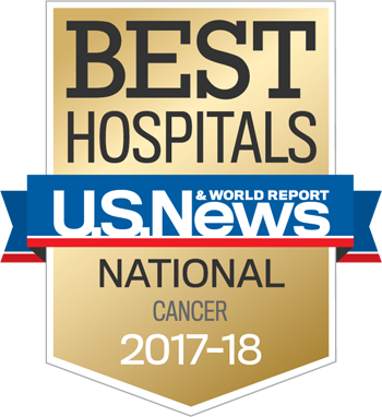 Northwestern Memorial Hospital U.S. News & World Report Best National Hospital, Cancer 2017-2018 graphic.