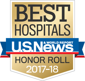 Northwestern Memorial Hospital U.S. News & World Report Best Hospitals Honor Roll 2017-2018 graphic.