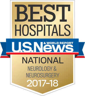 Northwestern Memorial Hospital U.S. News & World Report Best National Hospital, Neurosurgery 2017-2018 graphic.