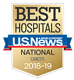 Northwestern Memorial Hospital U.S. News & World Report Best Hospitals Cancer 2018-2019 graphic.