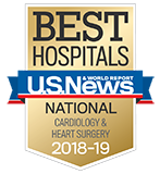 Northwestern Memorial Hospital U.S. News & World Report Best Hospitals Cardiology & Heart Surgery 2018-2019 graphic.