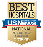 Northwestern Memorial Hospital U.S. News & World Report Best Hospitals Gastroenterology & GI Surgery 2018-2019 graphic.