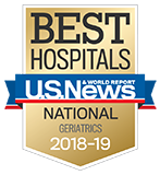 Northwestern Memorial Hospital U.S. News & World Report Best Hospitals Geriatrics 2018-2019 graphic.
