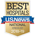Northwestern Memorial Hospital U.S. News & World Report Best Hospitals Gynecology 2018-2019 graphic.