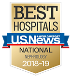 Northwestern Memorial Hospital U.S. News & World Report Best Hospitals Nephrology 2018-2019 graphic.