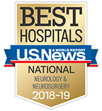 Northwestern Memorial Hospital U.S. News & World Report Best Hospitals Neurology & Neurosurgery 2018-2019 graphic.