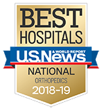 Northwestern Memorial Hospital U.S. News & World Report Best Hospitals Orthopaedics 2018-2019 graphic.