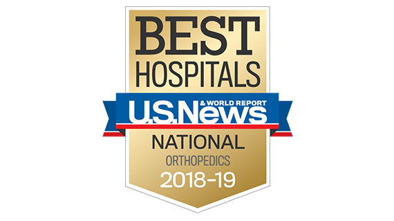 Central DuPage Hospital and Northwestern Memorial Hospital U.S. News & World Report Best Hospitals Orhopaedics 2018-2019 graphic.