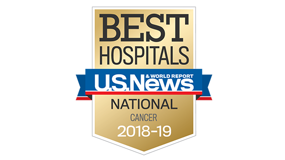 Northwestern Memorial Hospital U.S. News & World Report Best National Hospital, Cancer 2018-2019 graphic.
