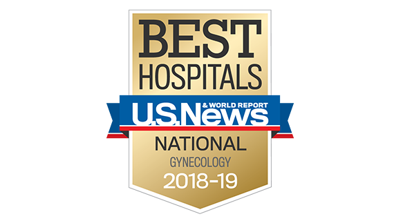 Northwestern Memorial Hospital U.S. News & World Report Best National Hospital, Gynecology 2018-2019 graphic.