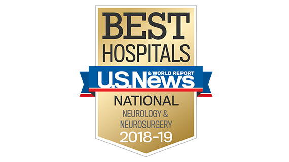 Northwestern Memorial Hospital U.S. News & World Report Best National Hospital, Neurology & Neurosurgery 2018-2019 graphic.