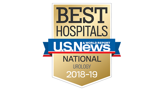 Northwestern Memorial Hospital U.S. News & World Report Best National Hospital, Urology 2018-2019 graphic.