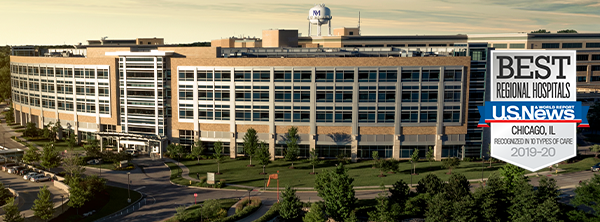 U.S. News & World Report recognized Northwestern Medicine Central DuPage Hospital as best regional hospital in 2019-2020.