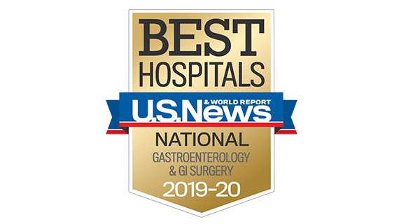 Northwestern Memorial Hospital U.S. News & World Report Best National Hospital, Gastroenterology 2019-2020