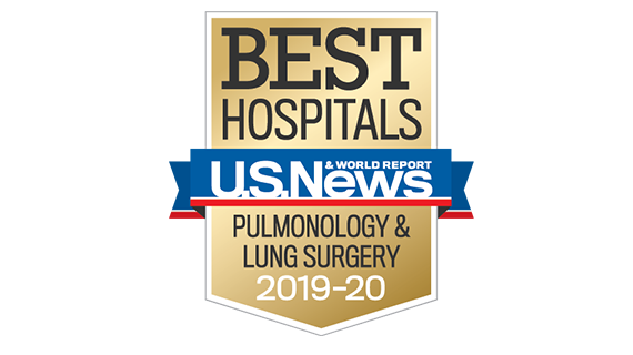Northwestern Memorial Hospital U.S. News & World Report Best National Hospital, Pulmonology & Lung Surgery 2019-2020
