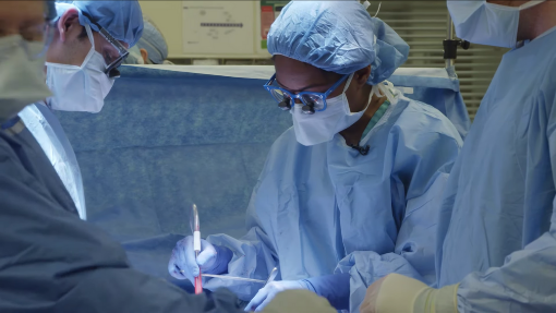 Northwestern Medicine surgeons performing a surgical procedure