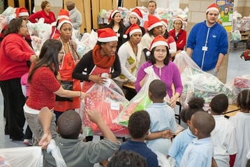 Jenner Elementary School students receive holiday gifts