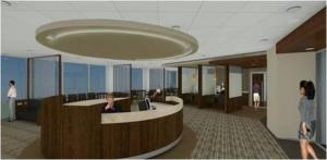 3D rendering inside of the new Glenview Outpatient Center