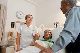 Caregiver helps a patient make healthcare decisions