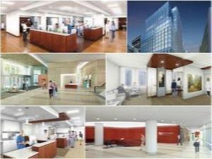 New patient care facility collage
