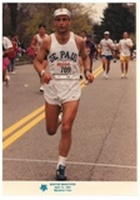 Mark Buciak at the age of 53 runs marathon