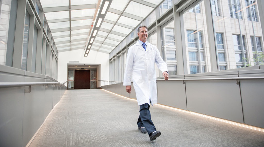 James. D. Thomas, MD on the skywalk