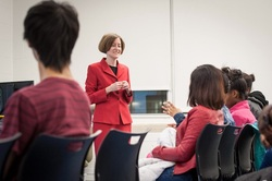 Lisa Neff, MD speaks to Westinghouse College Prep Students