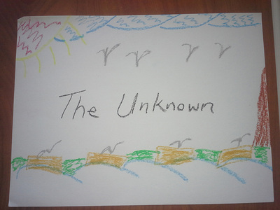 Child's drawing of the unknown