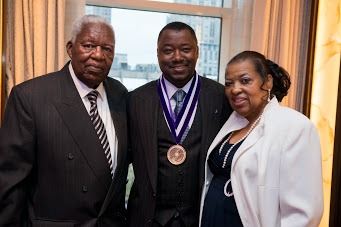 Dr. James Chandler with his parents
