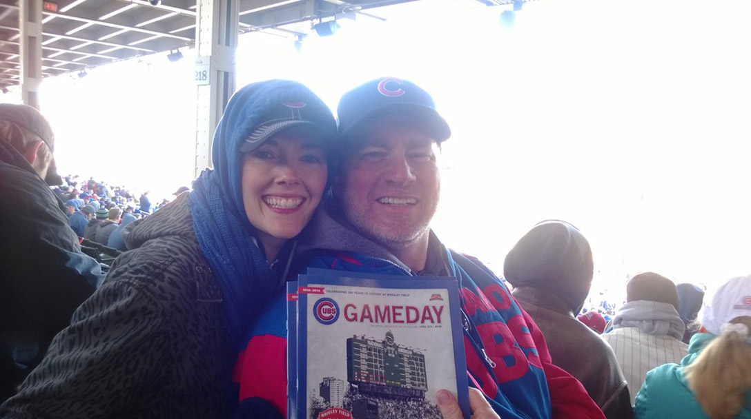 Meg Keating at the Cubs game