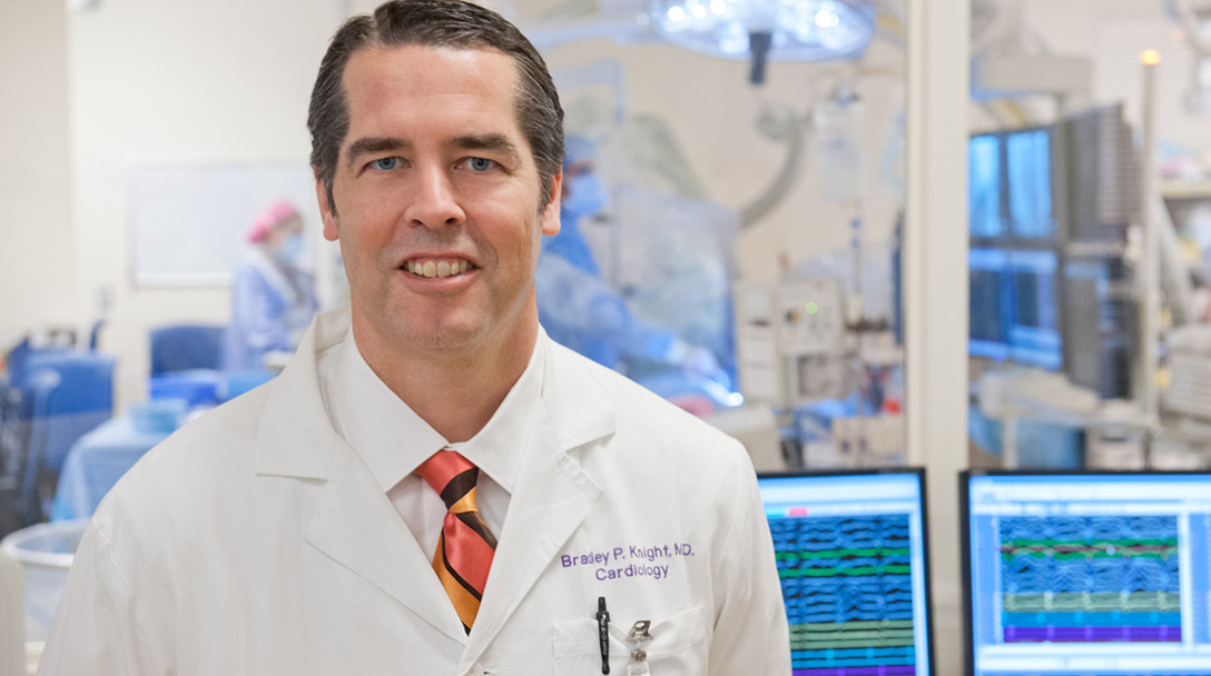 Bradley Knight, MD, medical director of the Center for Heart Rhythm Disorders