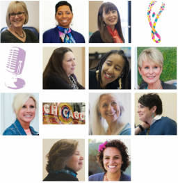 Collage of women cancer survivors