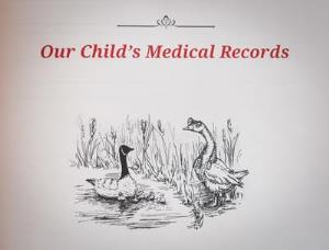 Our child's medical records book publication cover