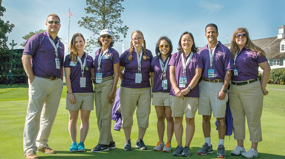 Medical staff on the golf course at the BMW Championship