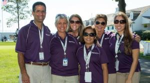 Medical staff posing for picture outside at BMW Championship
