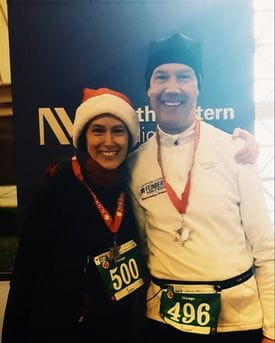 Calvin Brown Jr., MD, at the 2016 Jingle Bell Run