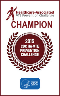 VTE Prevention Challenge Champ CDC 2015 Award