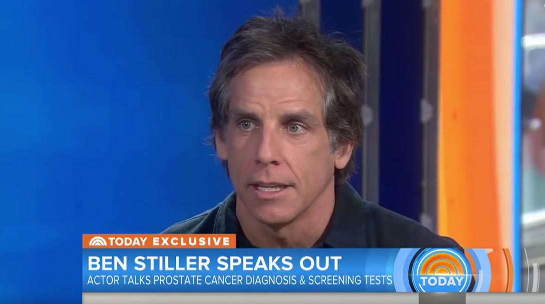 Ben Stiller speaks out about prostate cancer - Today Show screen grab.