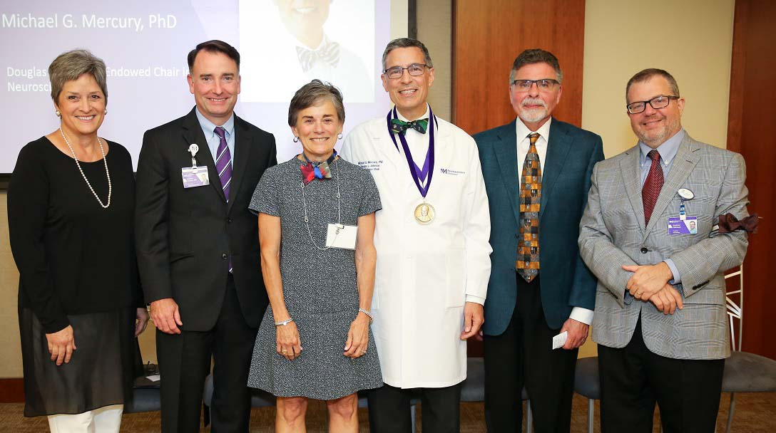 Michael Mercury, PhD, is the recipient of the Douglas L. Johnson Endowed Chair in Neurosciences