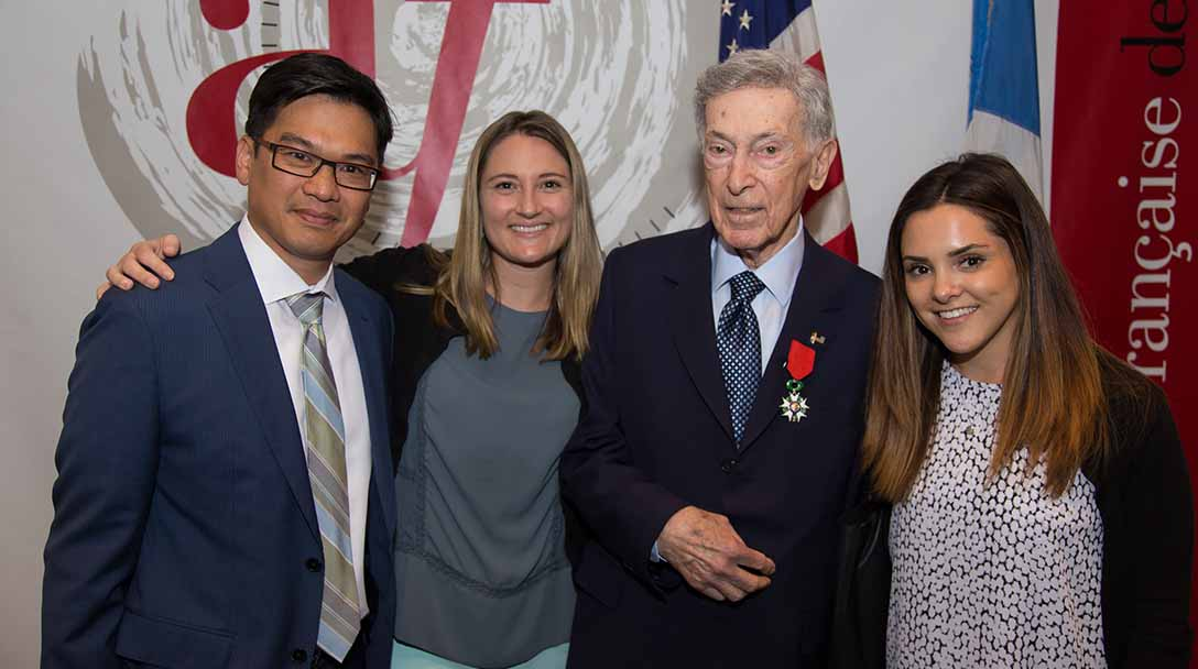 TAVR patient honored by French for heroism