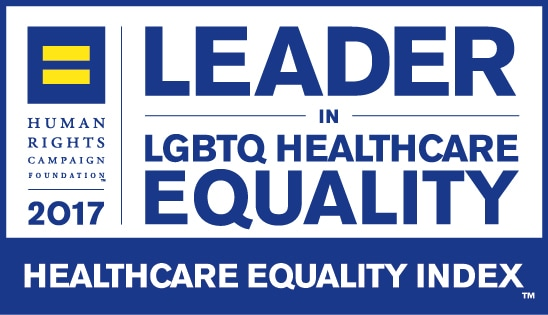 2017 Leader in LGBTQ Healthcare Equality logo