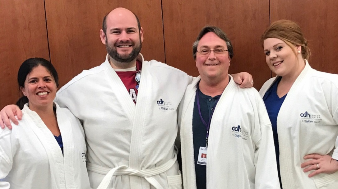 Donated Robe Connects Washington Tornado Survivor to One of the Latest Advancements in Cancer Treatment