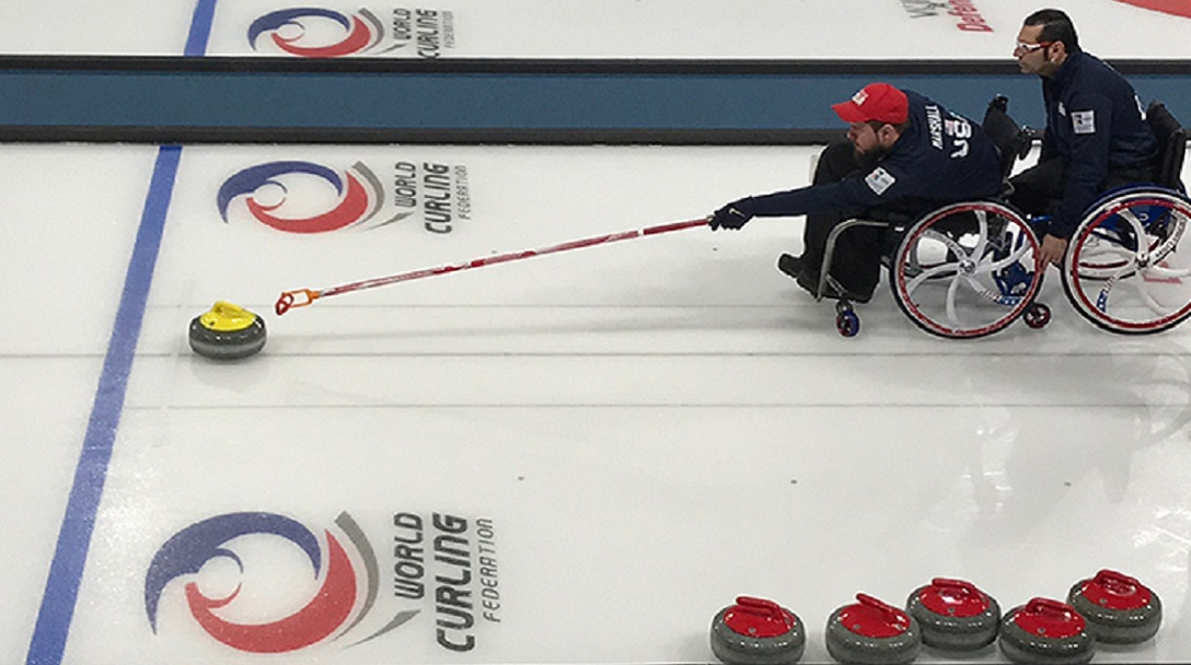Justin Marshall Wheelchair Curling before World Championships cropped for blog