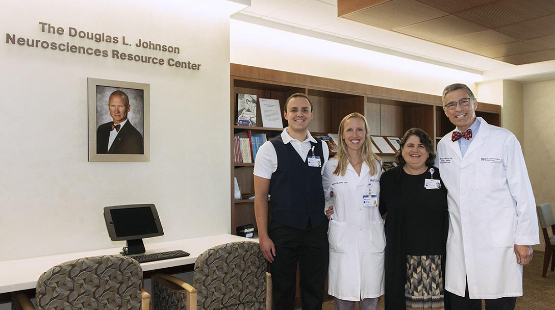 The Douglas L. Johnson Neurosciences Resource Center provides resources for patients and families navigating neurological illness.