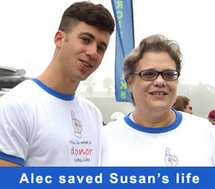 Donor Alec and Susan meeting for the first time