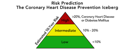 Northwestern Medicine coronary heart disease prevention iceberg pyramid