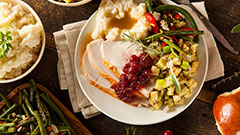 healthy turkey dinner on a plate