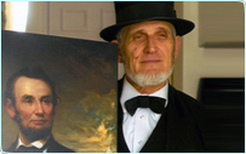 Chester Damron as Abraham Lincoln